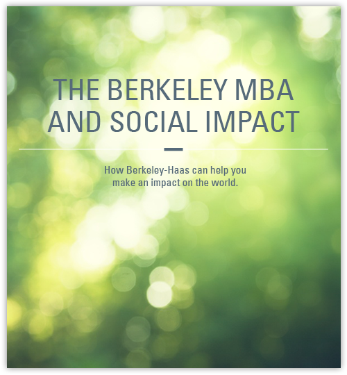 the berkeley mba and social impact ebook cover image